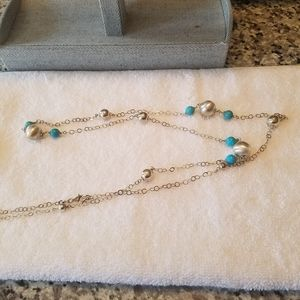 Jewelry - Sterling silver and turquoise necklace
